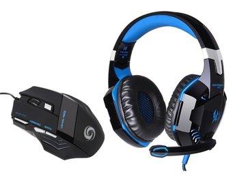 Gaming headset kotion G2000 & mus med roterande LED ljus - Motala - Gaming headset kotion G2000 & mus med roterande LED ljus - Motala