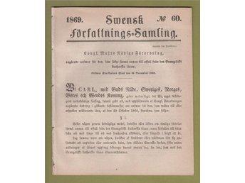 """SFS 1869-60. """"Avfall från den rätta läran"""", Säter. - Helsingborg - SFS 1869-60. """"Avfall från den rätta läran"""", Säter. - Helsingborg"""