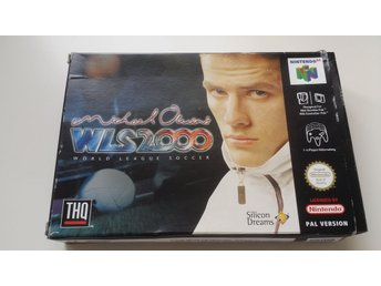 Michael Owen´s WLS 2000 World League Soccer. Svensksålt & Komplett.