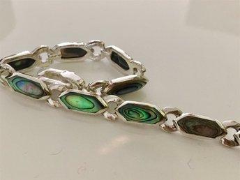 Utförsäljning, fynda! Armband 925 Sterling silver, Abalone, fantastiskt hantverk - Holmsund - Utförsäljning, fynda! Armband 925 Sterling silver, Abalone, fantastiskt hantverk - Holmsund