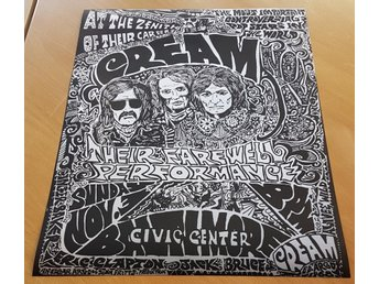 CREAM BALTIMORE CIVIC CENTER 1968 POSTER
