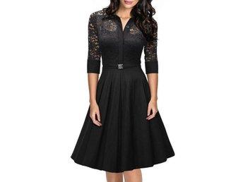 ny klänning stl XXL Black Europe Womens lace Dress skirt - Shanghai - ny klänning stl XXL Black Europe Womens lace Dress skirt - Shanghai
