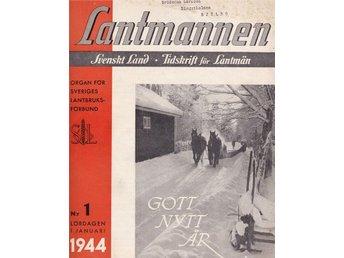 Lantmannen 1944-1 Tjur Tjurar I Norrland - Järpås - Lantmannen 1944-1 Tjur Tjurar I Norrland - Järpås