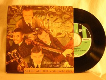 Gerry Mulligan Quartet   -   Bweebida bwobbida + 1      EP w. PS