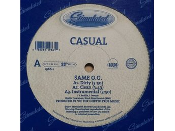 "Casual title* Same O.G. / Turkey & Dressing* Hip Hop 12"" US"