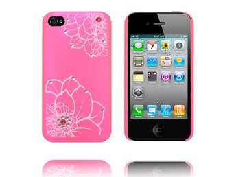 Diamond Flower - Matt Transparent (Rosa) iPhone 4S Skal