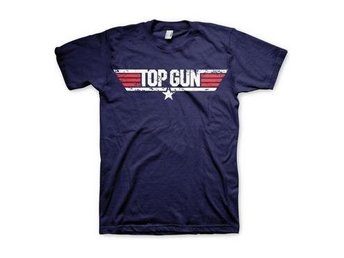 Top Gun T-shirt Distressed Logo L