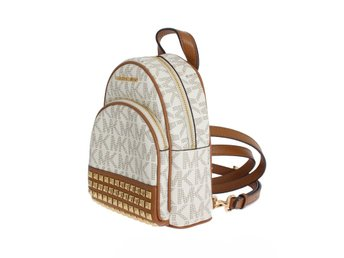 Michael Kors - White ABBEY Leather XS Backpack