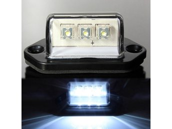 10-30V LED License Light Number Plate Lamp For Car Truck ...