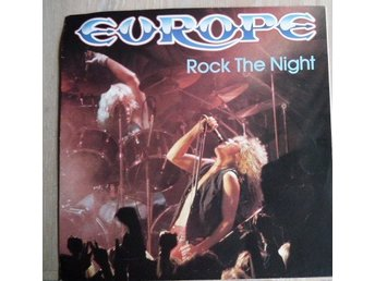 Europe - Rock the night -skivomslag ( ingen skiva)