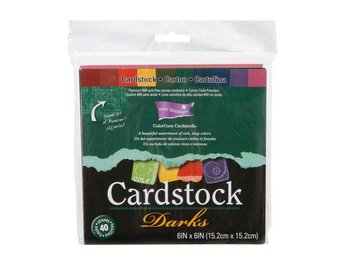 "Core'dinations® ColorCore Cardstock Darks 10 st 6""x6"""
