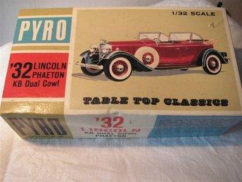 RETRO Modell PYRO 1932 års LINCOLN Phaeton från 1965 med Kromdetaljer Orig.låda - Piteå - RETRO Modell PYRO 1932 års LINCOLN Phaeton från 1965 med Kromdetaljer Orig.låda - Piteå