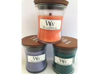 WoodWick Mini x 3 - Lavender Spa, Havana Nights och Dreamsicle Daydream