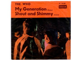 "THE WHO - My generation  7"" Singel  Tyskland"