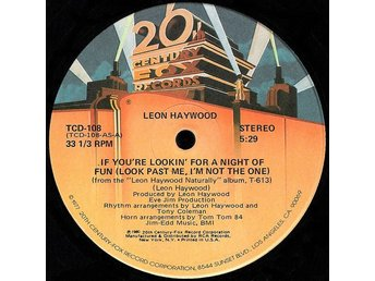"Leon Haywood – If you´re looking for a night of fun (20th Century Fox 12"")"