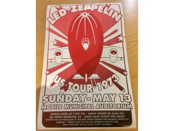 LED ZEPPELIN MOBILE MUNICIPAL AUDITORUM 1973 PHOTO POSTER