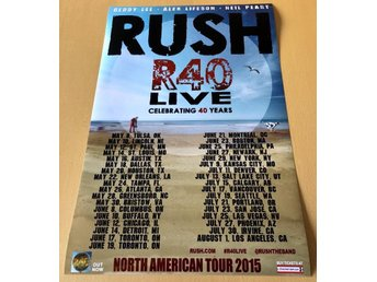 RUSH NORTH AMERICAN TOUR 2015 PHOTO POSTER