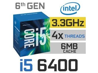 Intel® Core™ i5-6400 Processor (6M Cache, up to 3.30 GHz) LGA1151.