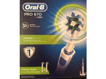 ORAL-B Pro 670 Eltandborste (339668978) ᐈ Köp på Tradera 8ffc827840298