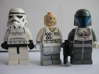 Lego Äkta Figurer 3st Star Wars Figurer  -  LF9-26