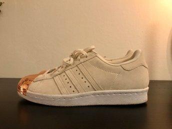 adidas Originals Superstar 80s Rose Gold Metal Toe Cap Trainers