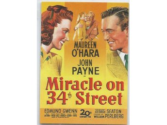 VINTAGE MOVIE POSTER SAMLARKORT-MIRACLE ON 34TH STREET