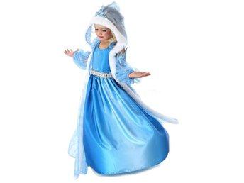 Frozen Frost elegant klänning Elsa med huva stl L ca 122/128 - Hong Kong - Frozen Frost elegant klänning Elsa med huva stl L ca 122/128 - Hong Kong