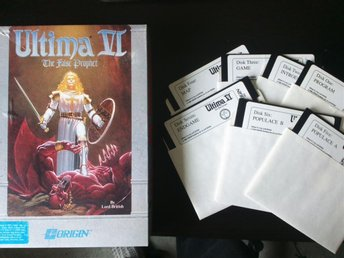 Ultiva VI / 6 för IBM PC - Inga Manualer - Retro RPG