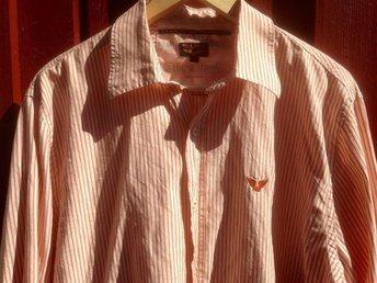 Mkt snygg Pall Mall skjorta, ljusorange rand. Stl L, mkt bra skick! - Gustavsberg - Mkt snygg Pall Mall skjorta, ljusorange rand. Stl L, mkt bra skick! - Gustavsberg