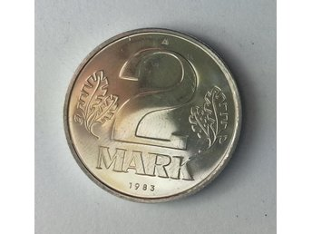 TYSKLAND ( f.d. Östtyskland )  - 2 MARK  1983A proof