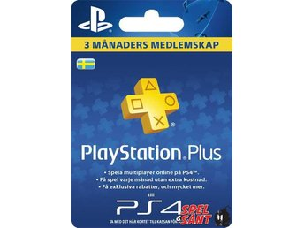 PSN Playstation Plus 3 Månader