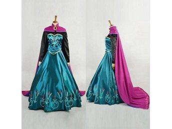 Princess Frozen Anna Snow Costume Cosplay Adult Lady stl L