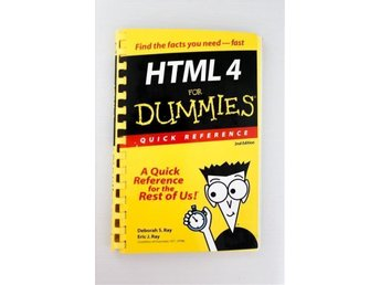 HTML 4 for Dummies Quick Reference - kurslitteratur, IT, teknik, data, webdesign