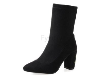 Dam Boots Fashion Female Sexy Warm Footwears black mosha 42
