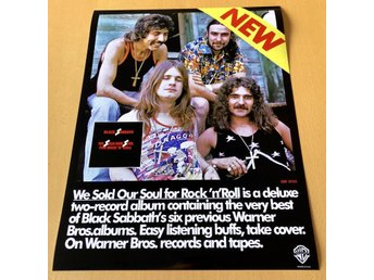 BLACK SABBATH WE SOLD OUR SOULS 1975 USA PHOTO POSTER
