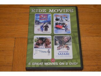 Barn 4 Filmer 2-Disc -Little Big Foot - Magic Kid - Hollywood Safari - DVD