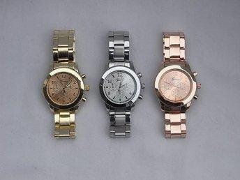 3X Armbandsur Geneva Quartz - Guld Silver Roséguld - Göteborg - 3X Armbandsur Geneva Quartz - Guld Silver Roséguld - Göteborg