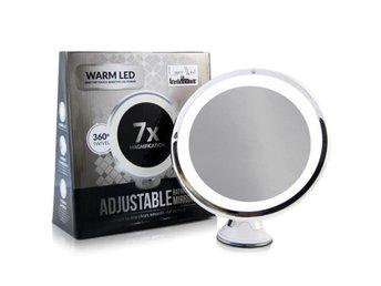 LED sminkspegel med 7x förstoring. Naturligt LED Ljus 360° roterande spegel - Uddevalla - LED sminkspegel med 7x förstoring. Naturligt LED Ljus 360° roterande spegel - Uddevalla