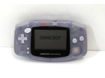GBA konsol, glasskärm, transparent blå Game Boy Advance