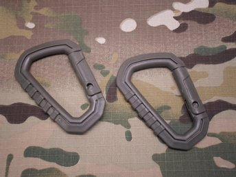 D-Ring Carabiners / Army Green