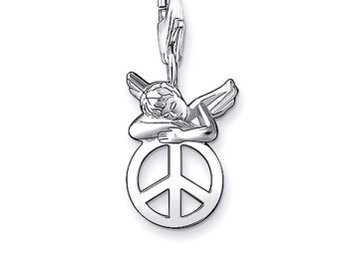 "•••***THOMAS SABO ""ANGEL/PEACE"" SILVER BERLOCK****••••"