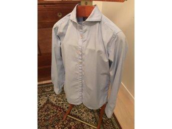 Ströms ljusblå skjorta i storlek 38 slimfit (327009590) ᐈ Köp på ... a3f1c4d9f87ae