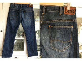 Lee fri frakt blå jeans Regular Fit rak modell Knox byxor byxa denim W 33 L 32