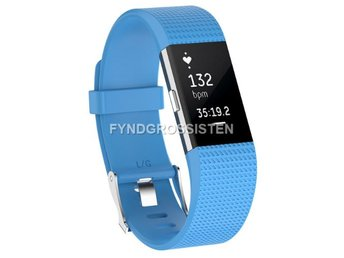 Armband Fitbit Charge 2 Large Sky Blue Fri Frakt Ny
