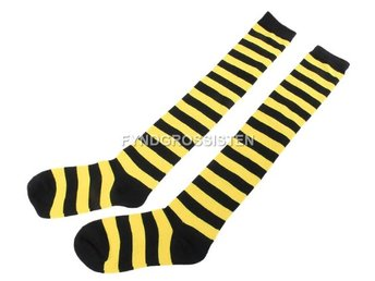 Knästrumpor High Long Striped Stocking Yellow Fri Frakt Ny