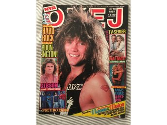 OKEJ nr 19 1987 m KISS - Bon Jovi - The Cure mfl