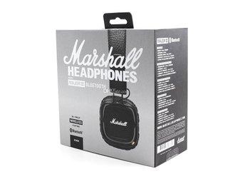 Marshall Major II BT Black Trådlösa Bluetooth Hörlurar NY Obruten Kvitto  Garanti 62df2dd0edf0a