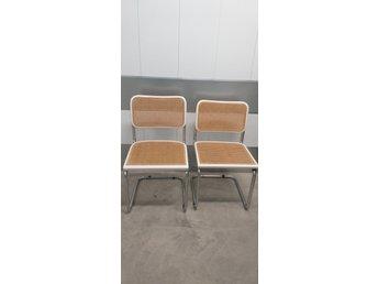 Helt nya Två bauhaus stolar, köksstol, rotting, retro, v.. (362871004) ᐈ VS-34
