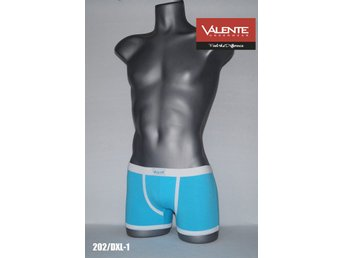 Kalsonger - 2-Pack Men boxer - Classic, Art 202/DXL-1 - Vit / Turkos - XL