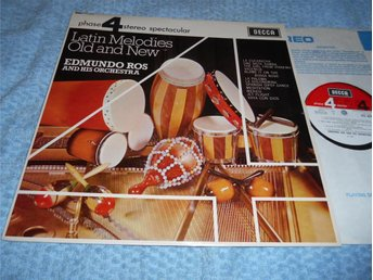 Edmundo Ros - Latin Melodies Old & New (LP) Decca Phase 4 stereo NM/VG++